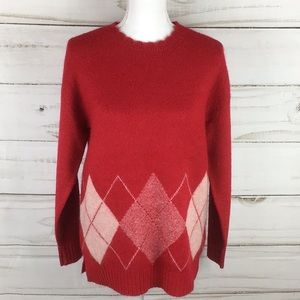 🆕🆕ELLE Red Diamond Sweater Size X-Small